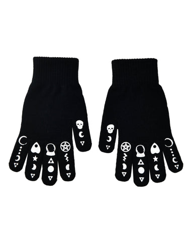 Symbology knit gloves