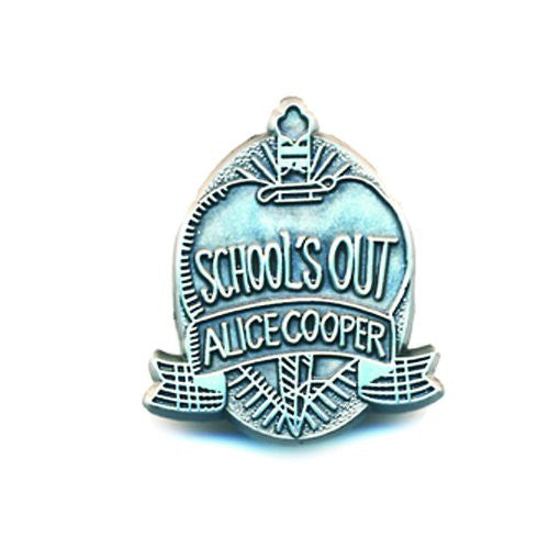 "Alice Cooper ""School's Out"" metal pin"