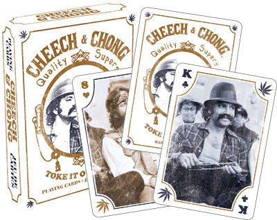 Cheech and Chong playing cards