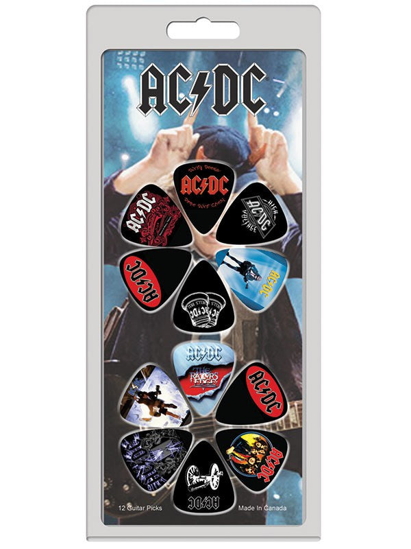 AC/DC guitar picks 12 pack