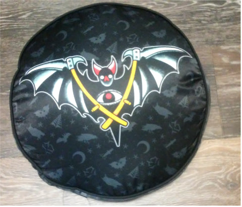 Round Bat Pillow/Cushion