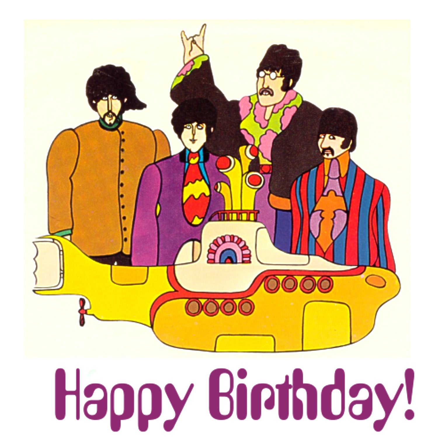 The Beatles Yellow Submarine Birthday Card – What the Rock
