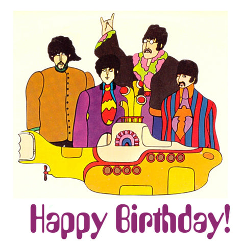The Beatles Yellow Submarine Birthday Card