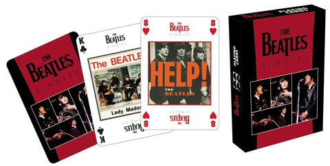 "Beatles ""Singles"" playing cards"