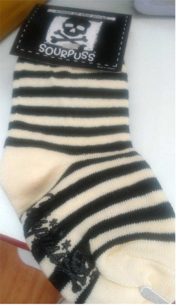 White striped/anchor baby sock set