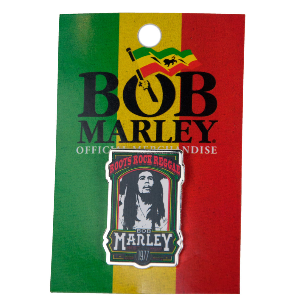 Bob Marley Roots Rock Reggae Enamel Pin