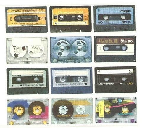 Colorful Cassette Tape Card