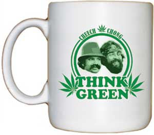 Cheech and Chong Think Green Coffee Mug