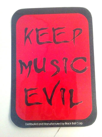 Keep Music Evil Sticker