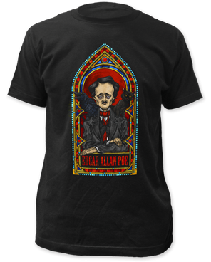 Edgar Allen Poe Stained Glass T-shirt