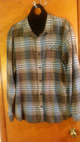 Blue and Brown Flannel Shirt. Gently Used. Jack O'Neill brand.