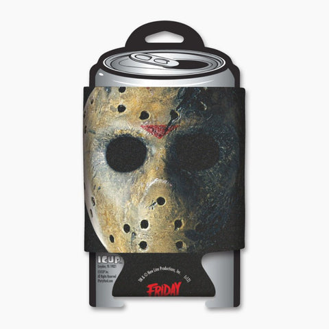 Friday the 13th Jason Mask can coozie