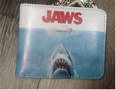 Jaws Bi-Fold Faux Leather Wallet