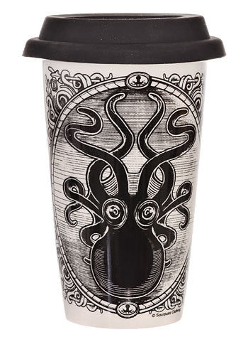 Ceramic Travel Mug--Krakken/Octopus