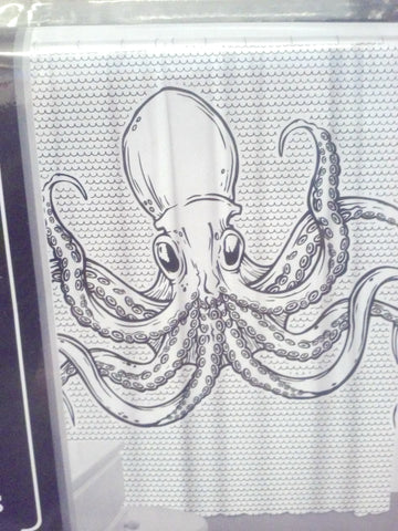 White Octopus Shower Curtain