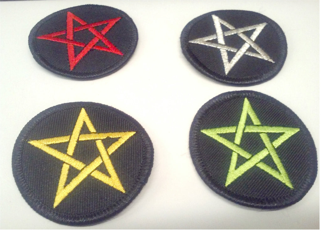 Pentagram patch--choose your color!
