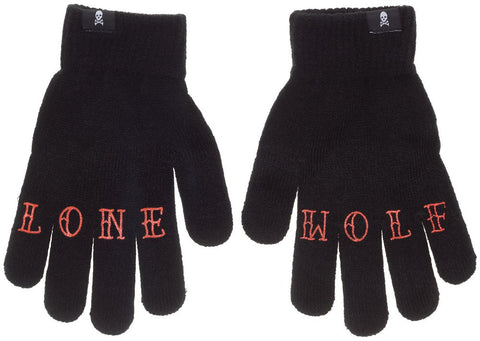 Knit Gloves--Lone Wolf