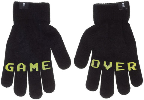 Knit Gloves--Game Over