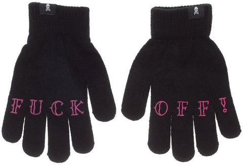 Knit Gloves--Fuck OFF