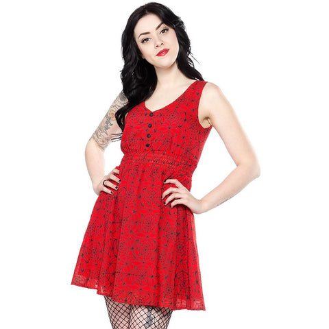 Red Spiderweb Dress