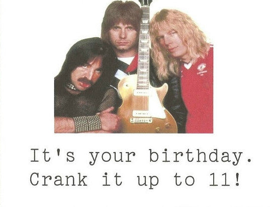 Spinal Tap Birthday Card