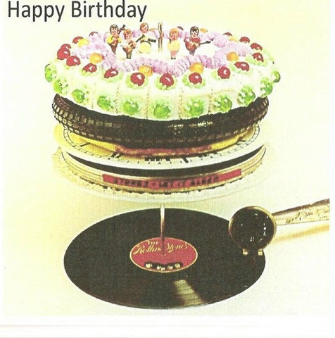 Rolling Stones Birthday Card