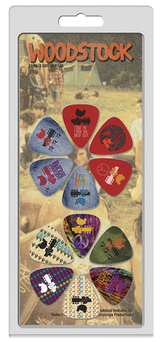 Woodstock guitar picks 12 pack