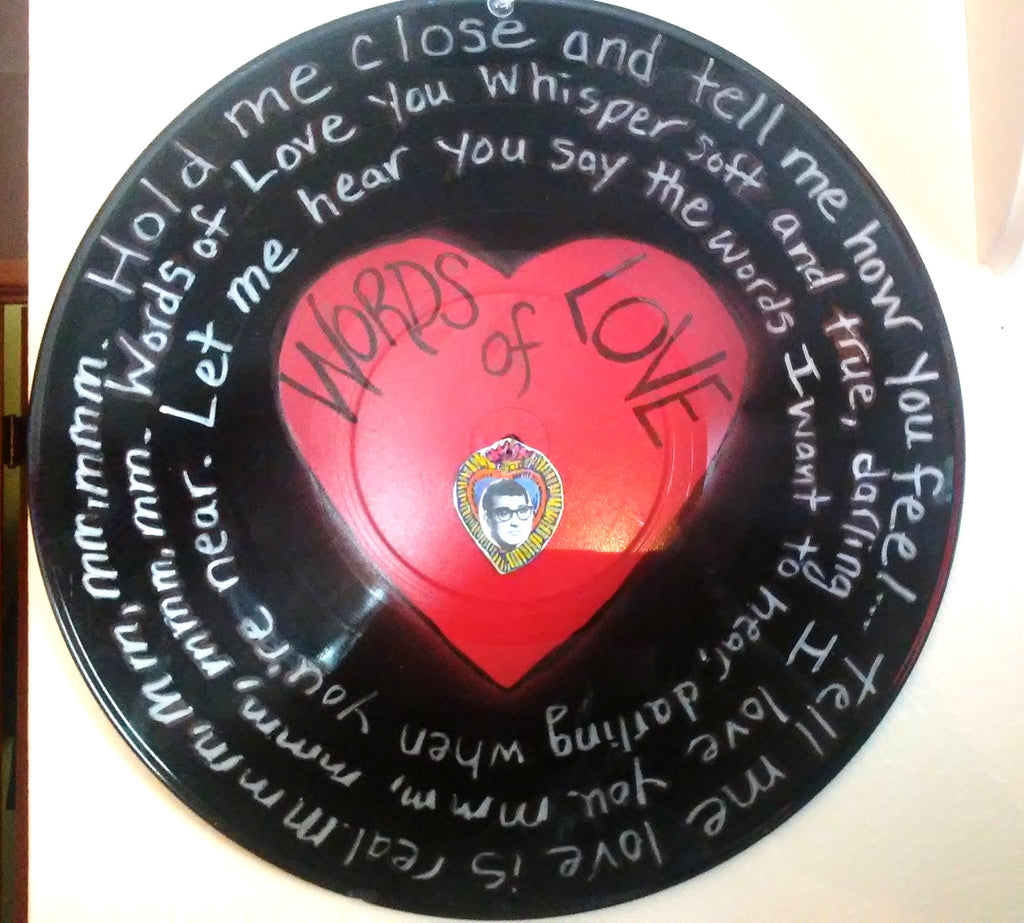 """Words of Love"" Song Lyric Record Valentine"