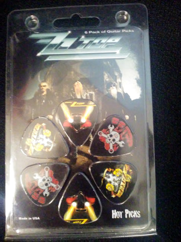 ZZ Top Collectible Guitar Picks