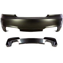 1M Designed Rear Bumper With Quad Exhaust Tip Cutouts