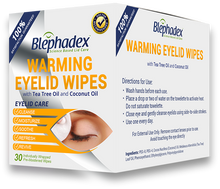 Load image into Gallery viewer, Blephadex Warming Wipes 30-pack