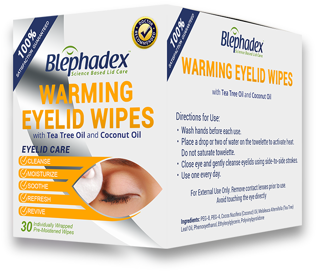 Blephadex Warming Wipes 30-pack