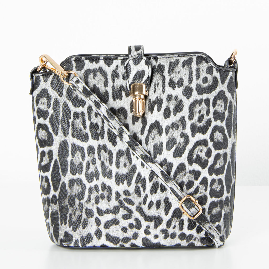 Abbey Bag | Black Leopard