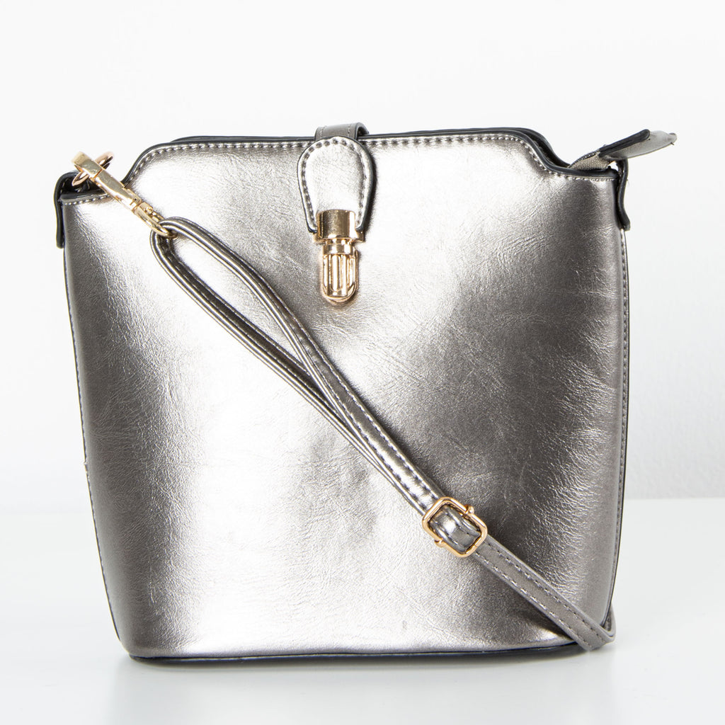 Abbey Bag | Metallic Grey
