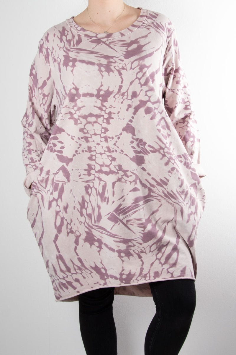 Evie Abstract Pattern Tunic | Pink