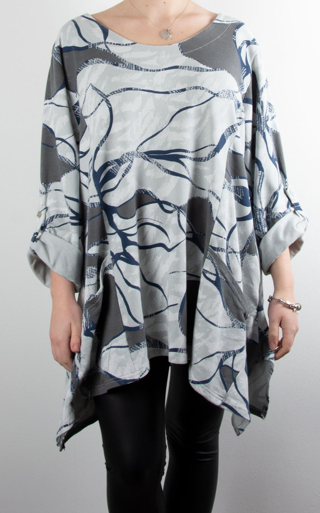 Abstract Swing Bottom Sweat | Grey