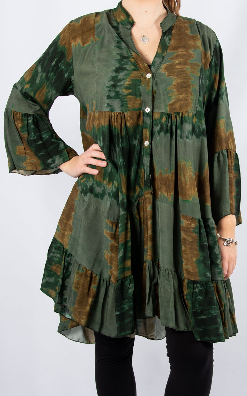 Alex Smock Dress | Khaki