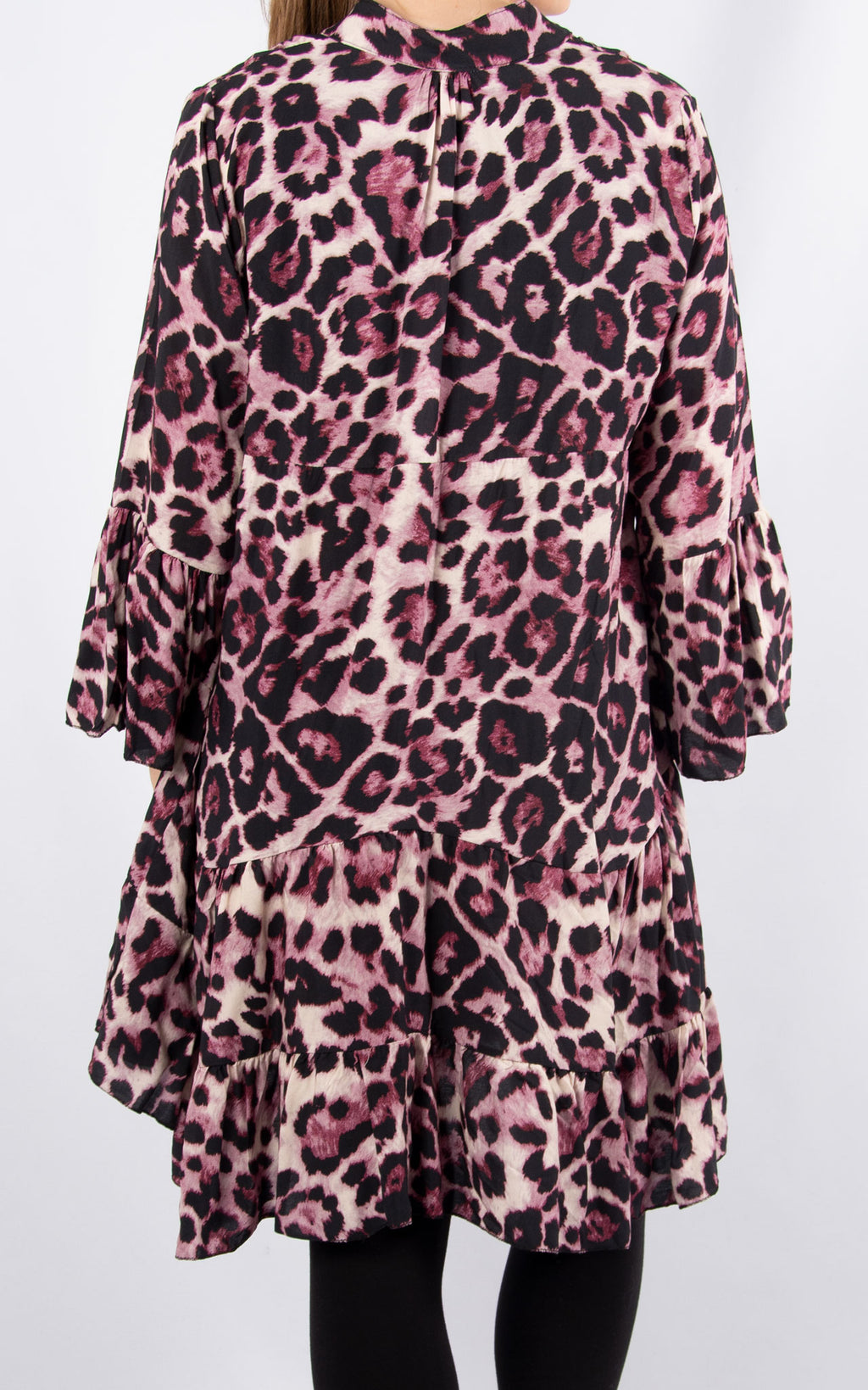 Alex Smock Dress | Pink Leopard