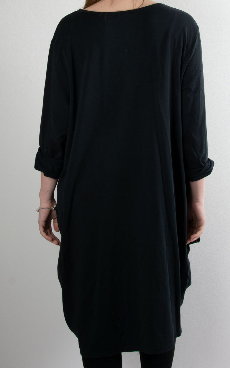 Amber Rouched Tunic | Black