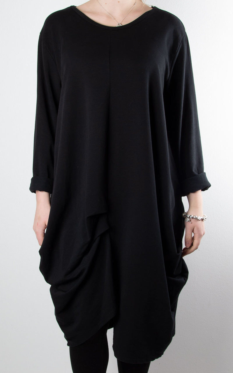Amber Sweat Tunic | Black