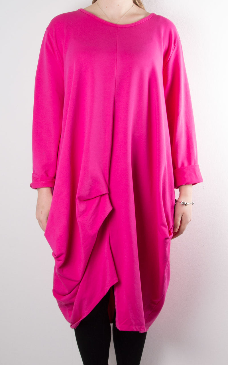 Amber Sweat Tunic | Hot Pink