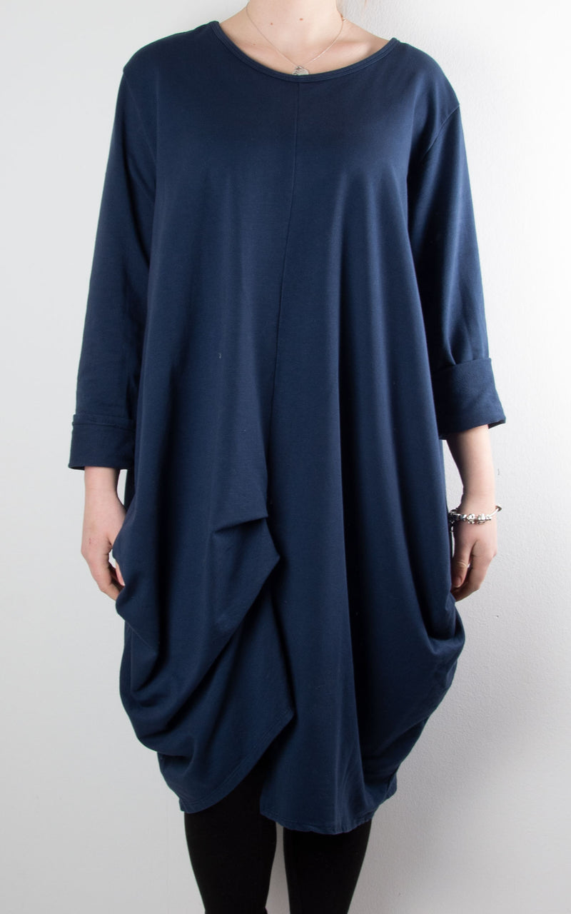 Amber Sweat Tunic | Navy