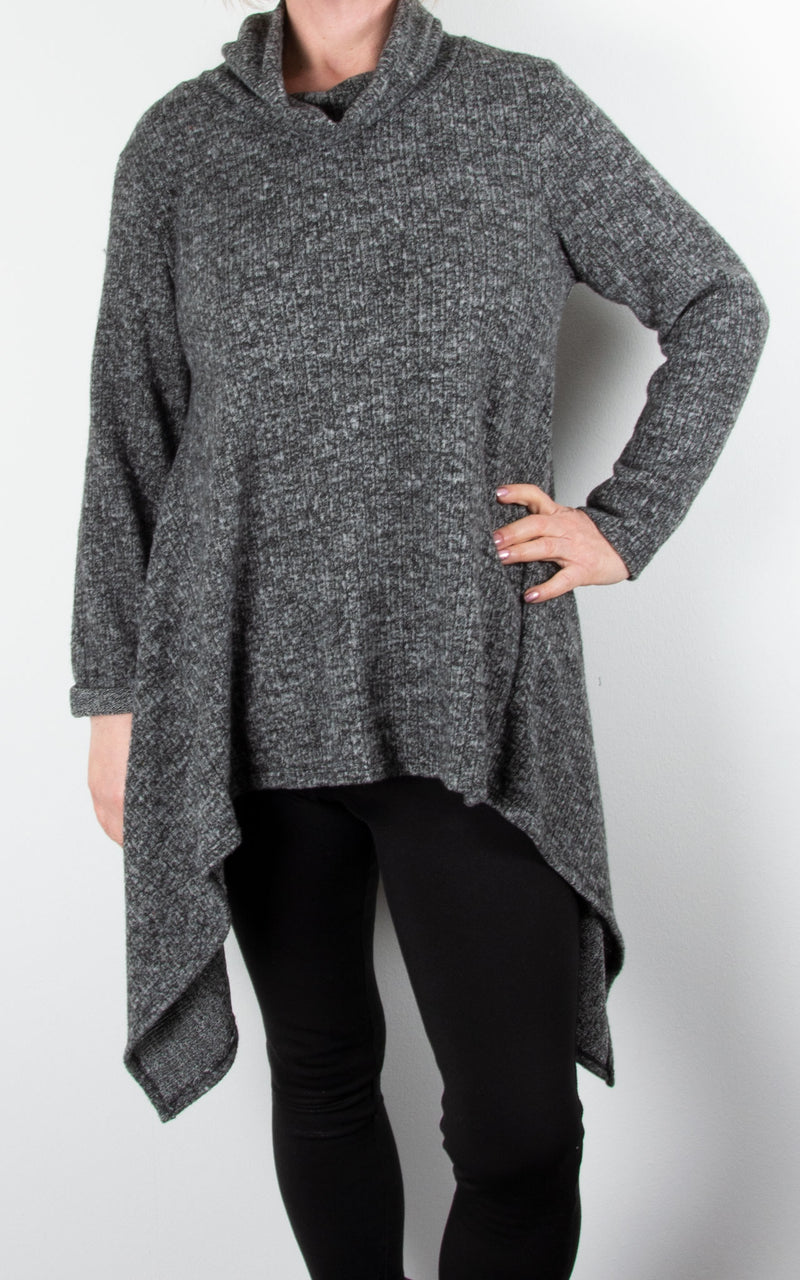 Arch Hem Jumper | Dark Grey