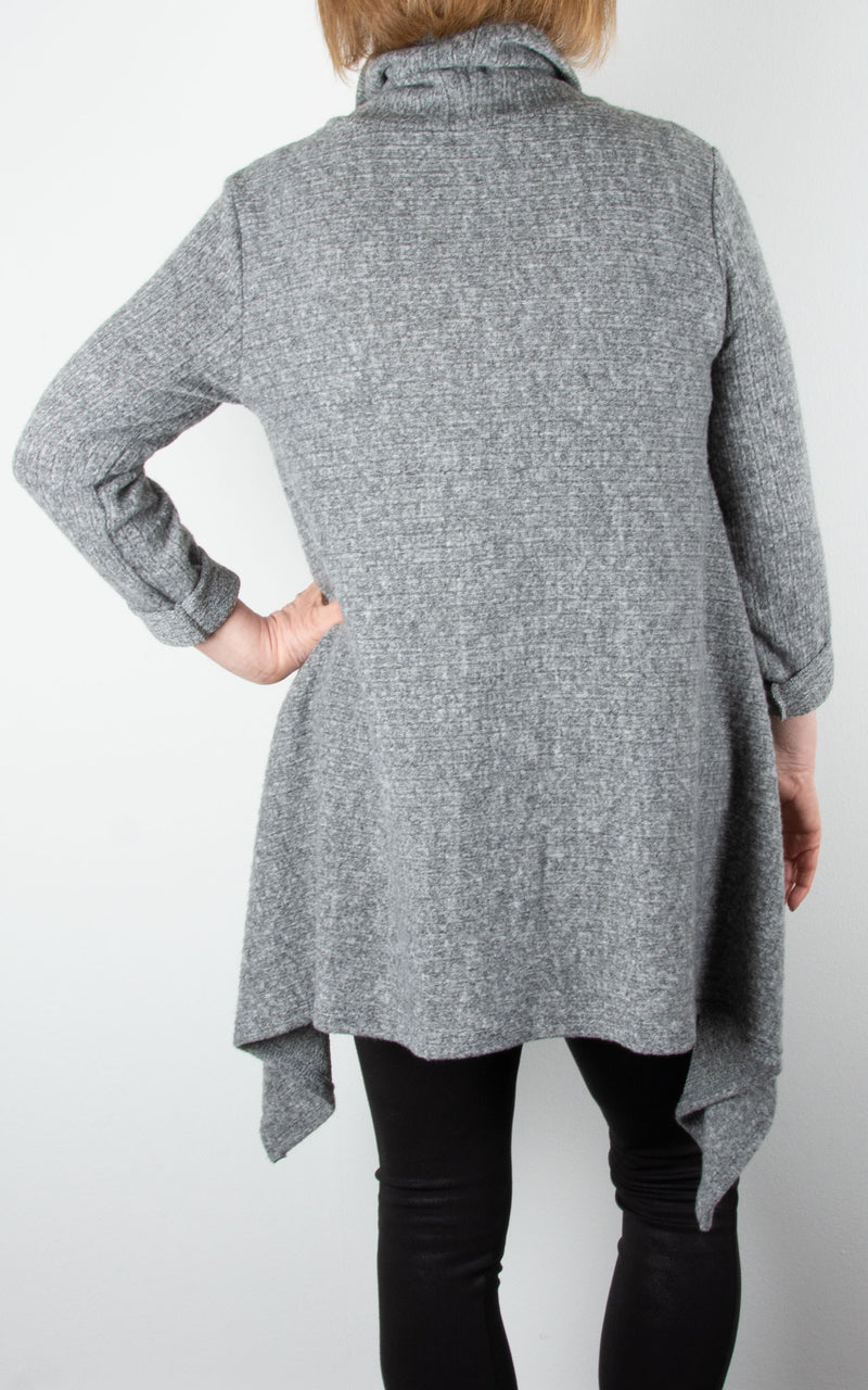 Arch Hem Jumper | Light Grey