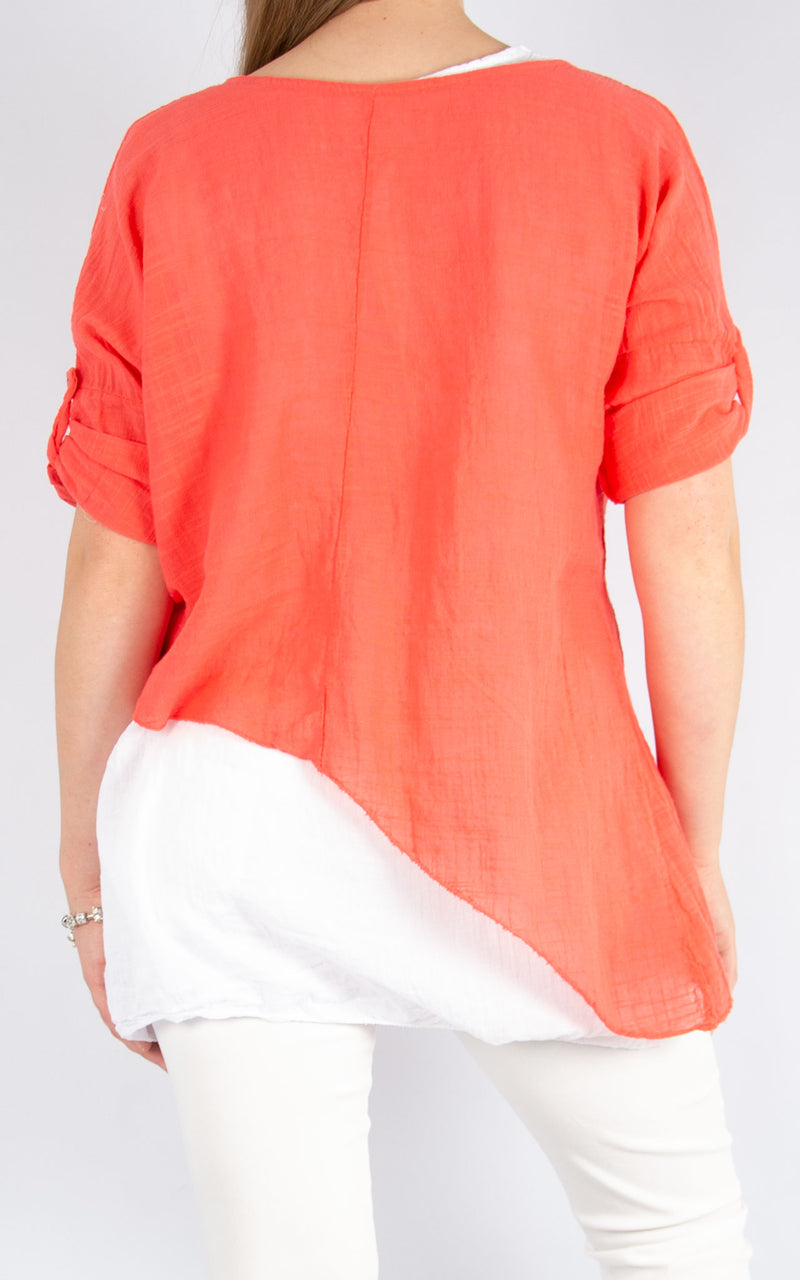 Coral Double Layer Asymmetric | Made in Italy