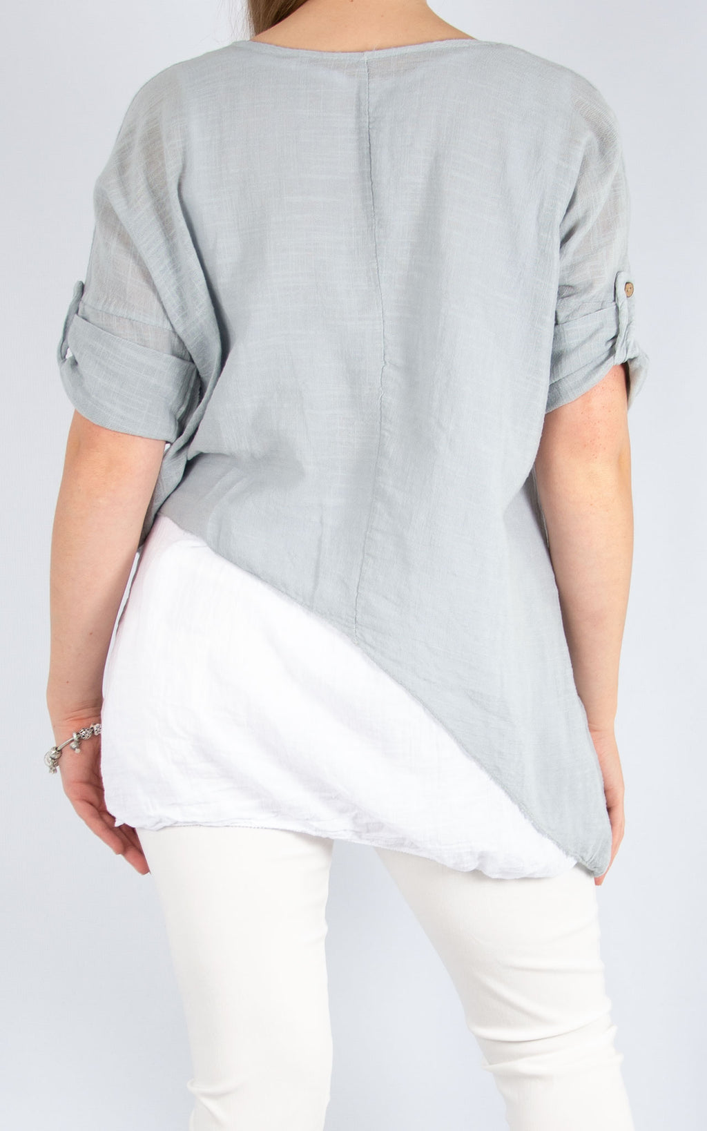 Light Grey Double Layer Asymmetric | Made in Italy
