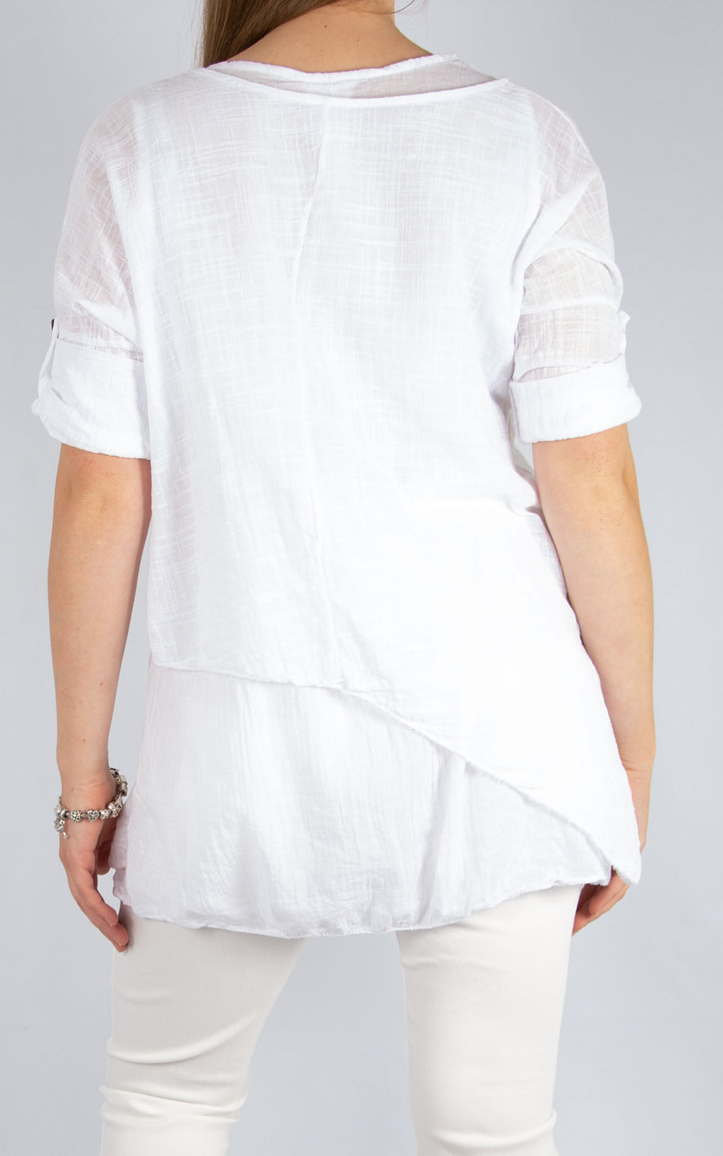 White Double Layer Asymmetric | Made in Italy