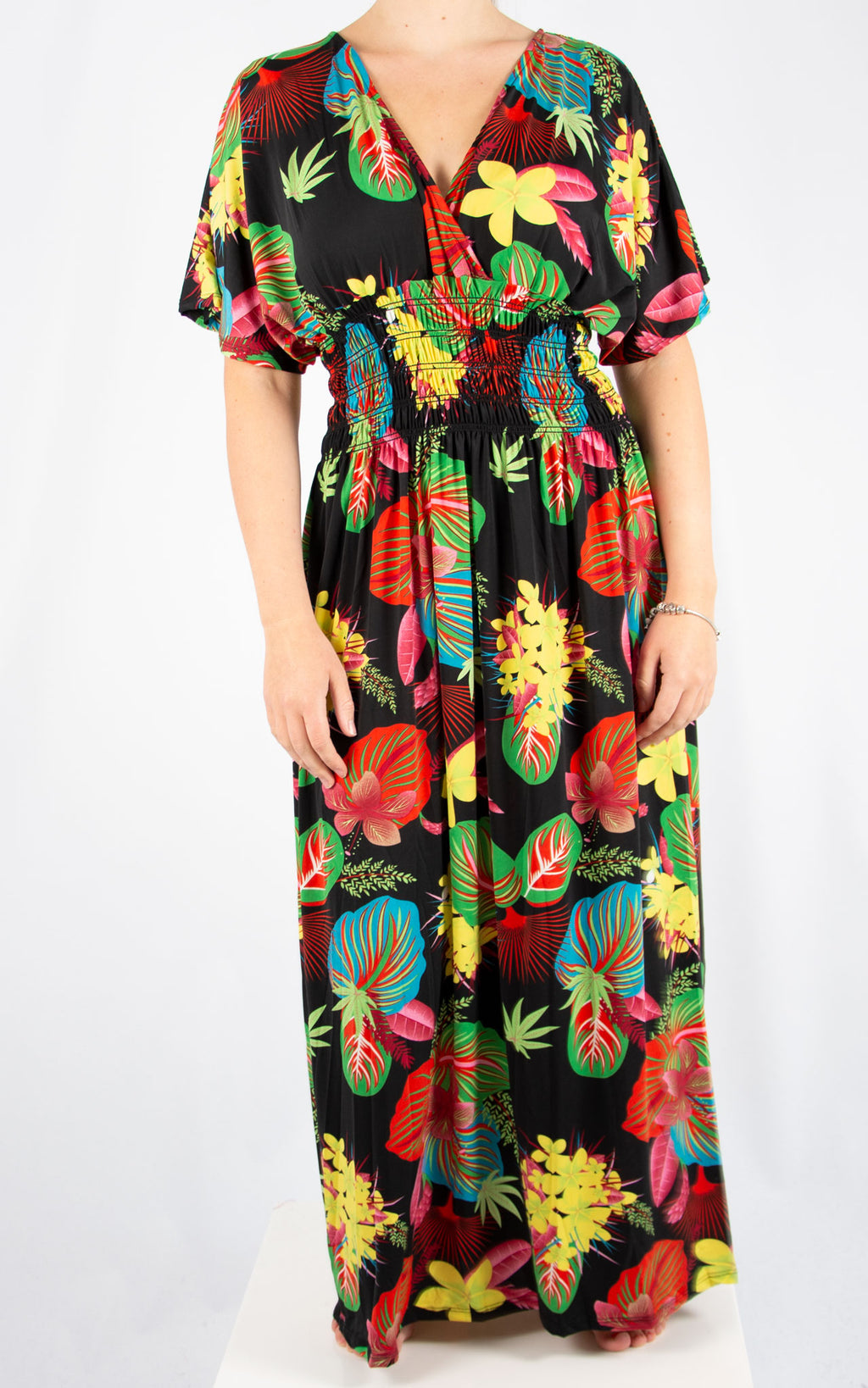 Black Ava Tropical Dress