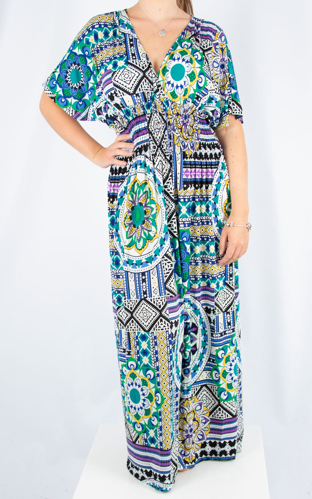 Ava Dress | Blue Mosaic