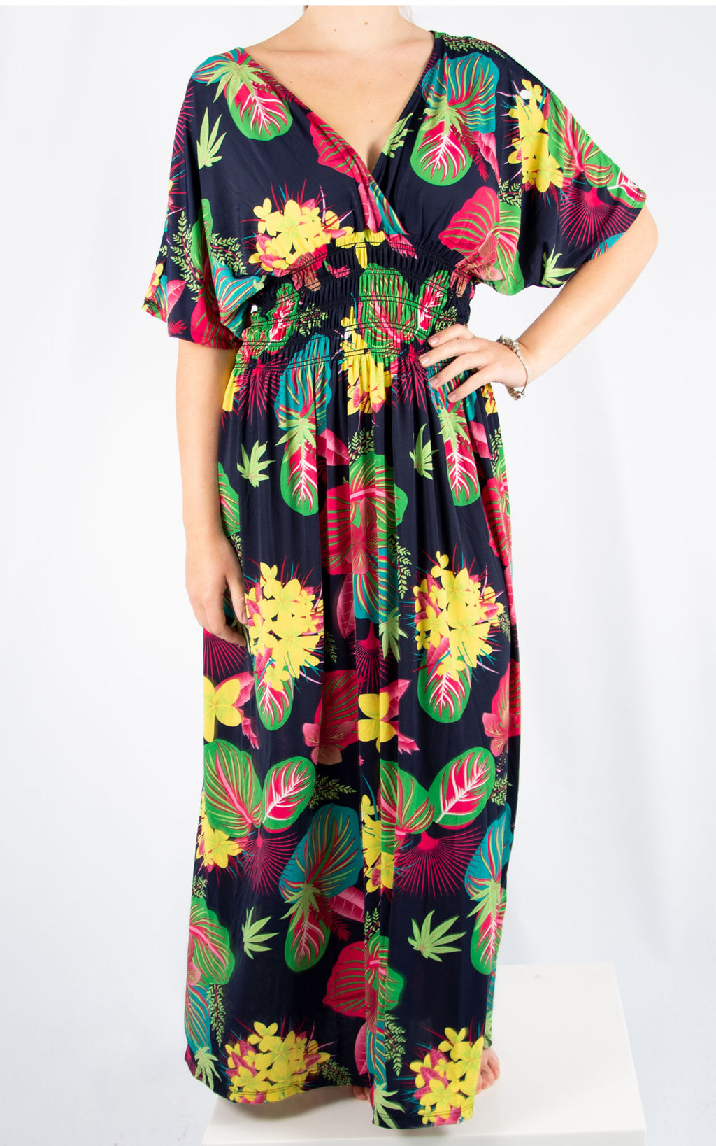 Navy Ava Tropical Dress